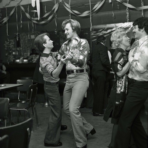 """Ron and Art Dancing, Verdi's Bar"" - COURTESY BRUCE HARKNESS"