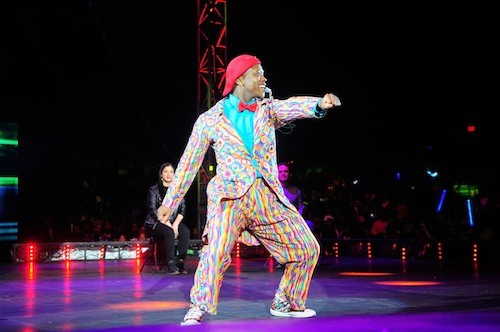 Sifiso is the performer most likely to try leading you in a super silly dancing game of follow-the-leader. - COURTESY UNIVERSOUL CIRCUS