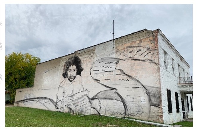 Rendering of Sydney James's upcoming Malice Green tribute mural. - SYDNEY JAMES