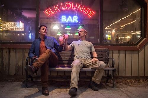 Bruce Campbell and Ted Raimi in 'Ash vs Evil Dead' - COURTESY STARZ