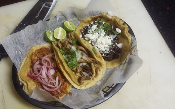 Timmy's Tacos from Kelly's Bar in Hamtramck. - PHOTO BY SERENA MARIA DANIELS