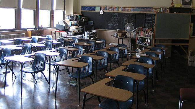 A view of a classroom at the former Old Detroit Holy Redeemer school. - MOTOWN31, WIKIMEDIA CREATIVE COMMONS