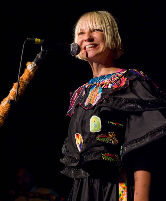 SIA PERFORMING IN SEATTLE. PHOTO FROM WIKIPEDIA.