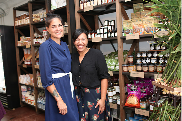 The Farmer's Hand co-owners, Rohani Foulkes and Kiki Louya. - PHOTO BY SARAH BARTHLOW PHOTOGRAPHY