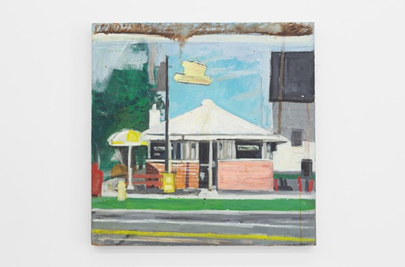MARY ANN AITKEN, UNTITLED, CIRCA 1985 - 89, OIL ON MASONITE, 24 X 24 INCHES (61 X 61 CM). PHOTO COURTESY OF WHAT PIPELINE.