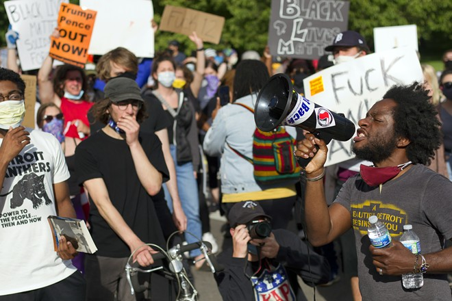 """Detroit activist Tristan Taylor organized Detroit's Black Lives Matter protests. """"We say this is America's problem, right?"""" he says. """"If this is America's problem, it's actually the obligation and duty of America to stand with Black and brown bodies."""" - STEVE NEAVLING"""