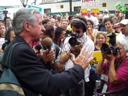 Tom Hayden in 2004. - PHOTO VIA WIKIPEDIA