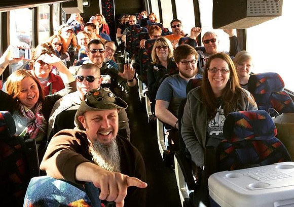 """I love this bus."" - PHOTO COURTESY MOTOR CITY BREW TOURS"