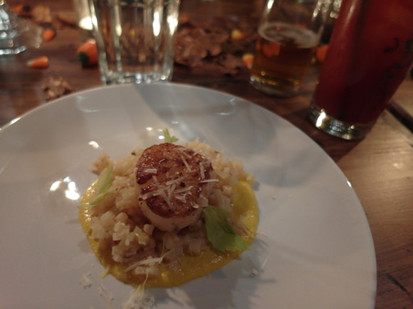 Celeriac and parsnip risotto by chef Michael Barrera. - PHOTO BY SERENA MARIA DANIELS