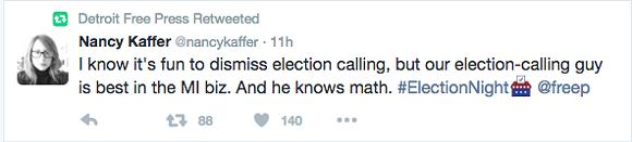 Kaffer is not alone in that regard. - TWITTER SCREEN CAPTURE