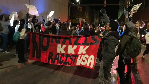 Protesters are afraid minority groups will lose rights during Trump's presidency.