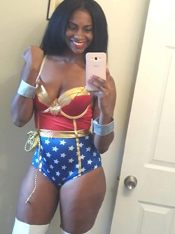 Baker as Wonder Woman. - COURTESY OF JONQUIL BAKER.