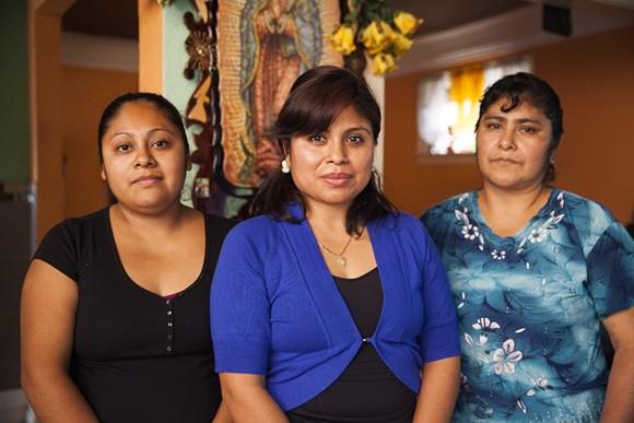 From left: Co-chefs Marta Valdez, Mariana Valdez, and Genoveva Palacios. - PHOTO BY ERIK HOWARD.