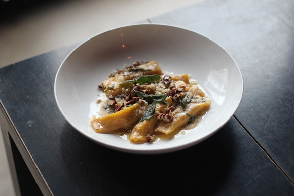 Pumpkin agnolotti from Selden Standard. - PHOTO BY RYAN PATRICK HOOPER.