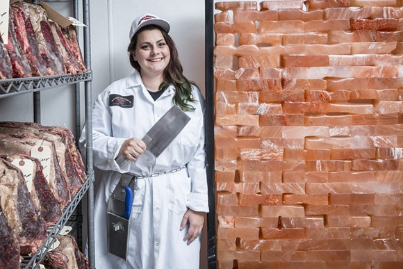 Larissa Pope is one of several chefs in Detroit who knows how to transform a carcass into cuisine. - PHOTO BY JACOB LEWKOW.