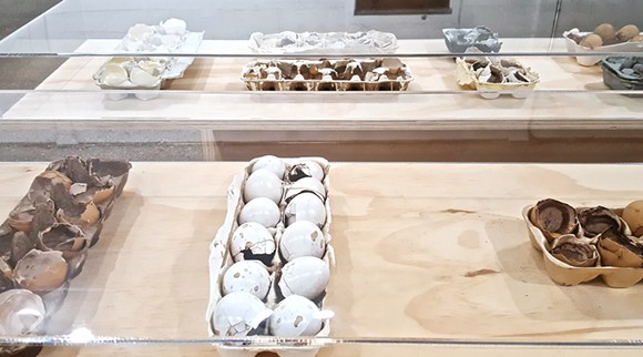 Eggshell Series (2016), installation view - PHOTO BY SARAH ROSE SHARP