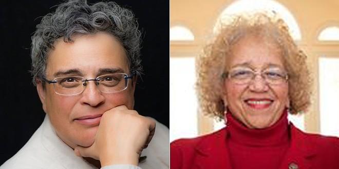Ypsilanti Mayor Beth Bashert, left, is replaced by Mayor Pro Tem Lois Richardson. - CITY OF YPSILANTI