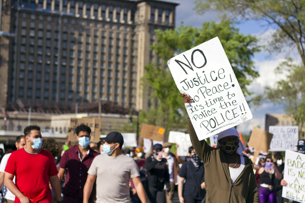 Protests against police brutality have been sustained in Detroit since May 29. - STEVE NEAVLING
