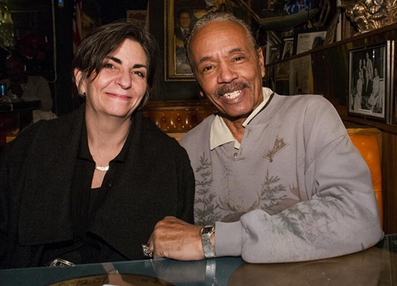 Larry D'Mongo and Cafe D'Mongo's manager, Christine Passerini. - TOM PERKINS