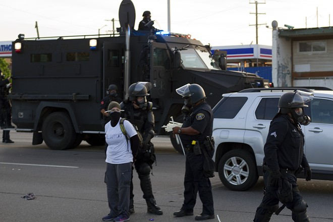 Detroit police arrested more than 100 protesters on June 2 for violating curfew. - STEVE NEAVLING