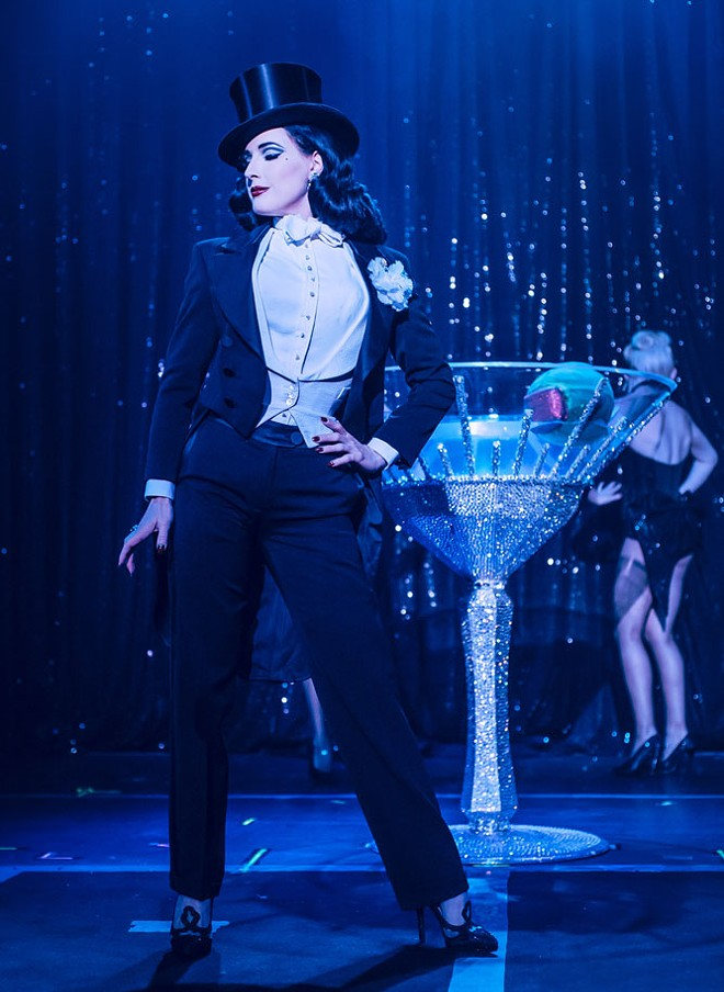 Dita Von Teese's burlesque act has evolved into an elaborate stage show. - KAYLIN IDORA