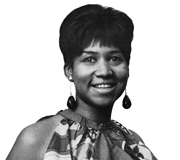 Aretha Franklin in 1967. Photo via Wikipedia.