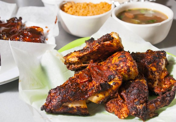 Slow-grilled chicken at Taqueria El Rey - TOM PERKINS