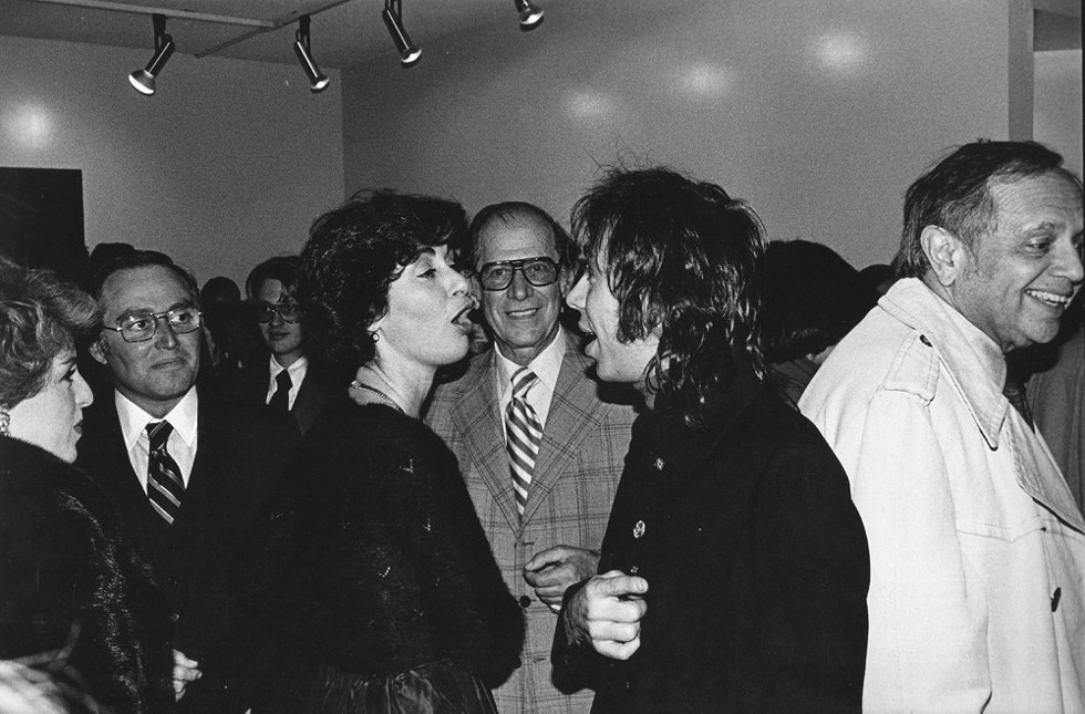 Susanne Hilberry at the opening night of her gallery at 555 Woodward in Birmingham, December 1976. - HARRY TAYLOR