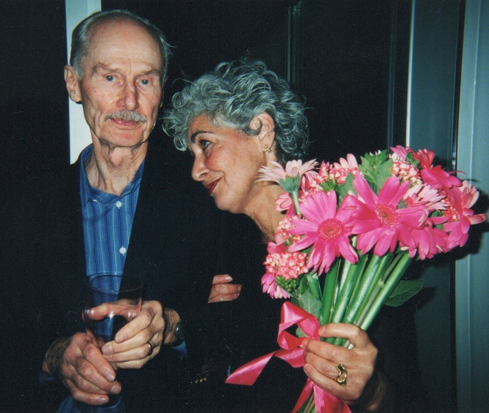 Susanne Hilberry with artist Richard Artschwager at the opening of her gallery at 700 Livernois in Ferndale, 2002. - COURTESY SUSANNE HILBERRY GALLERY