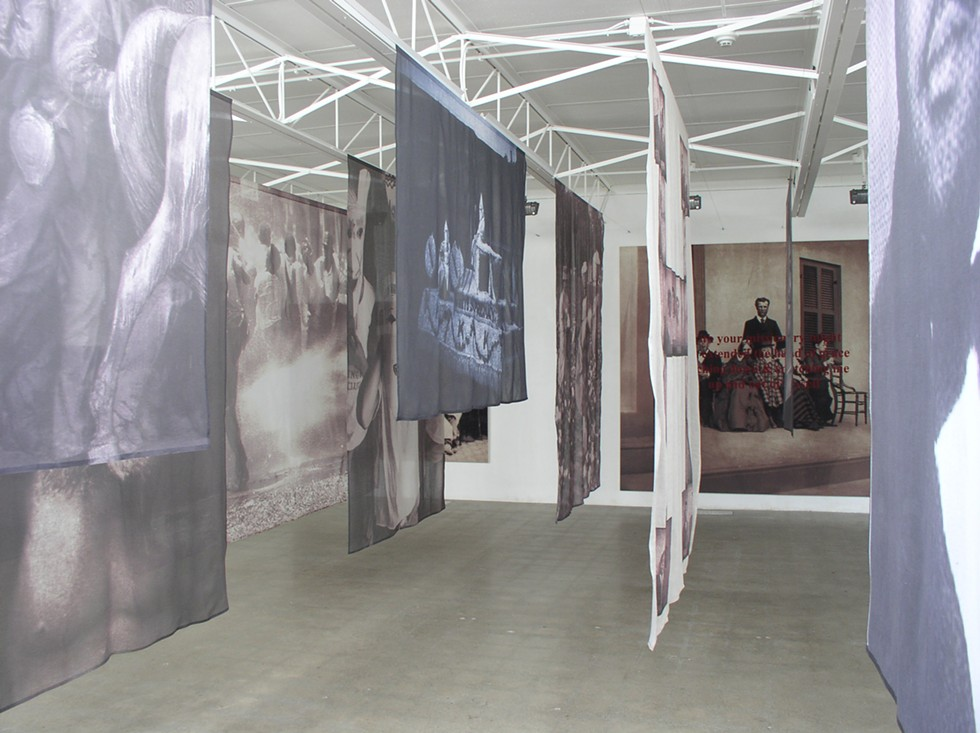 Carrie Mae Weems' exhibition The Hampton Project, February 2004. - COURTESY SUSANNE HILBERRY GALLERY