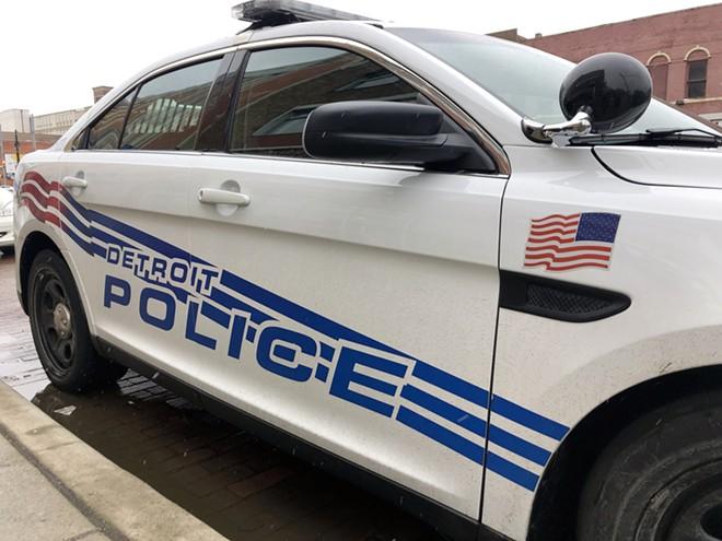 Detroit police car. - STEVE NEAVLING