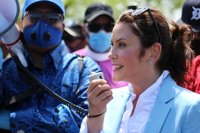 Gov. Gretchen Whitmer and Lt. Governor Garlin Gilchrist II marched with police brutality protesters in Highland Park and Detroit. - STATE OF MICHIGAN