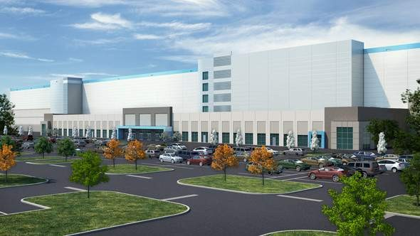Rendering of Amazon distribution center. - CITY OF DETROIT
