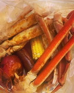 Inside a Cajun Boiling Crab bag. - EDWARD DAVIS II