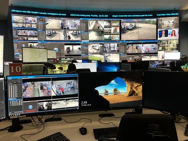 Detroit's Real Time Crime Center. - STEVE NEAVLING