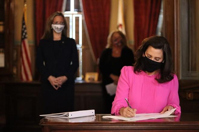 Gov. Gretchen Whitmer signs a previous bill. - GOV. GRETCHEN WHITMER'S OFFICE