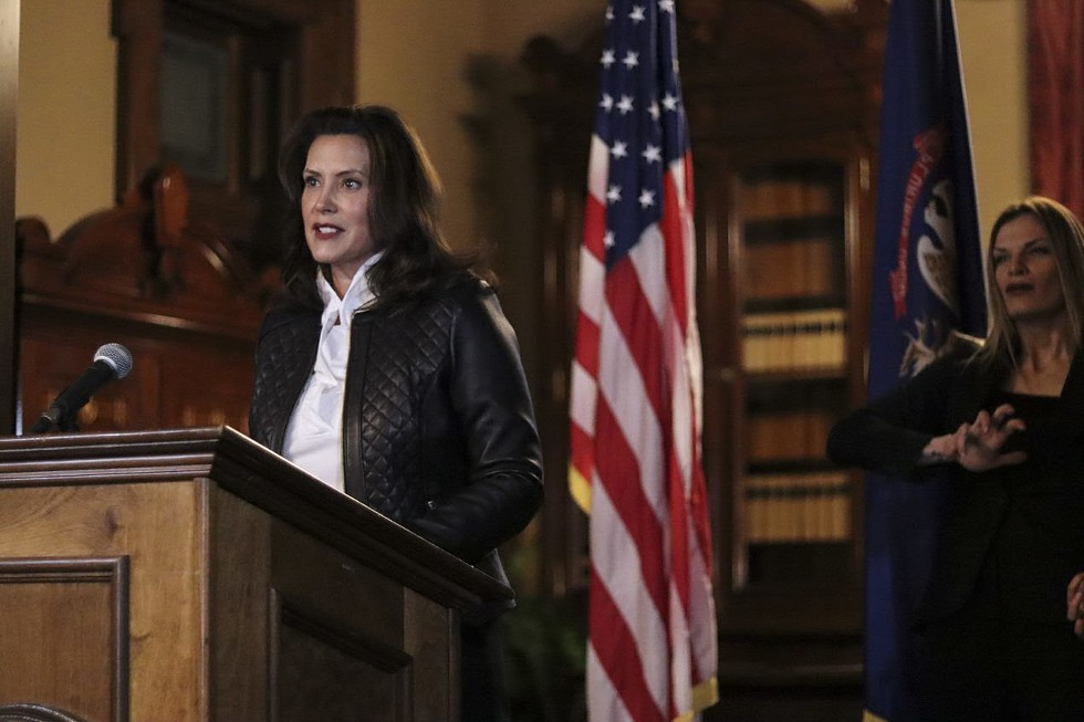 Gov. Gretchen Whitmer makes an address on Oct. 8 about the foiled plot against her. - STATE OF MICHIGAN