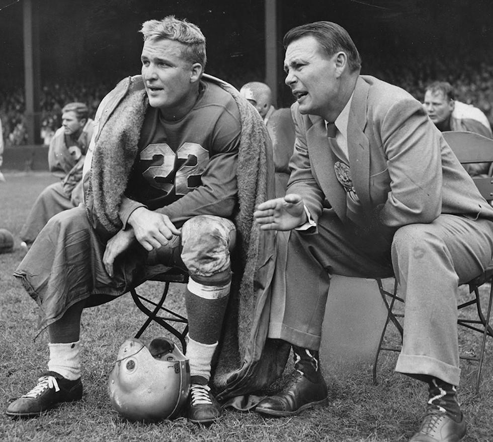 Bobby Layne and Buddy Parker. - COURTESY PHOTO