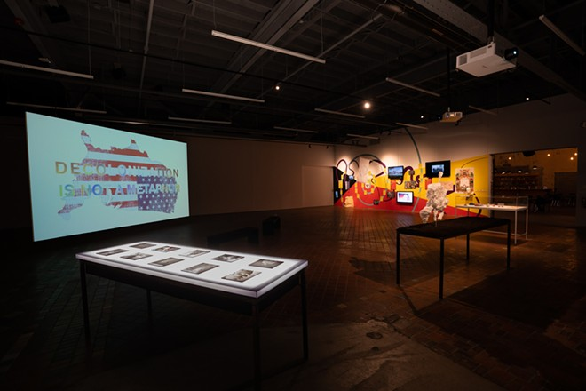 New Red Order: Crimes Against Reality, Museum of Contemporary Art Detroit, exhibition view, 2020. - COURTESY OF THE ARTISTS