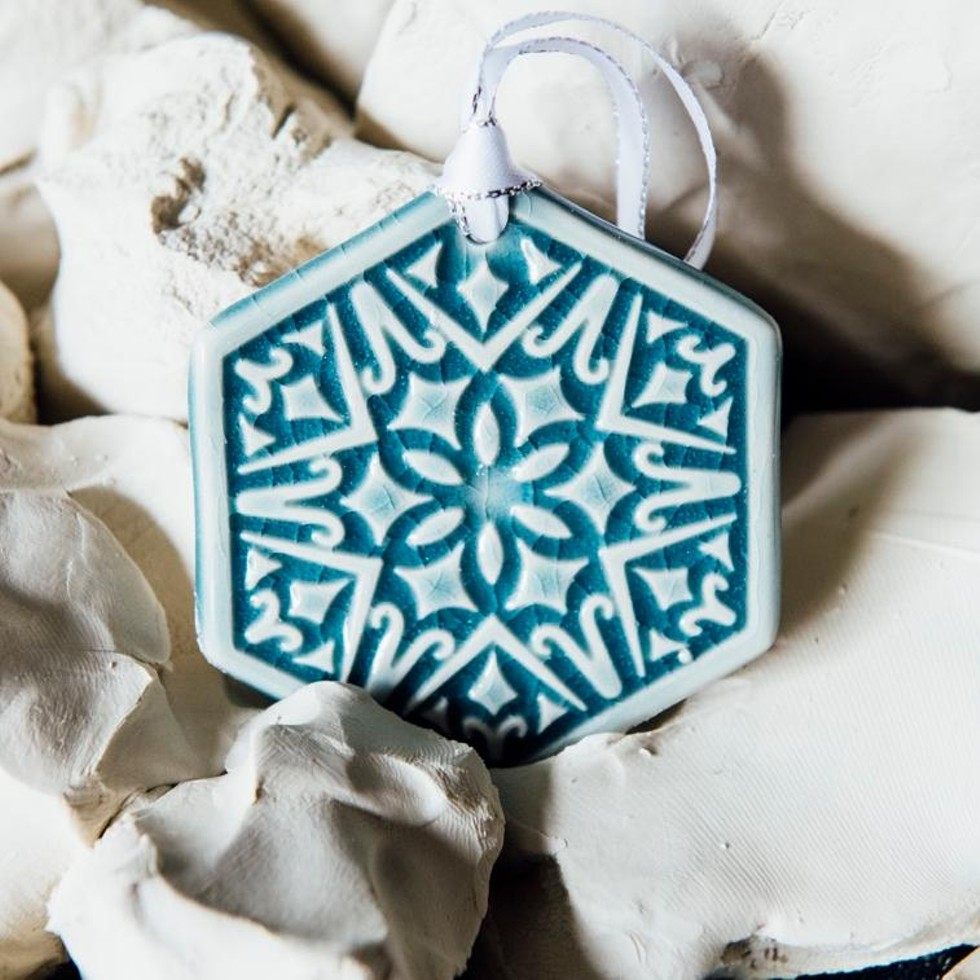 2020 Holiday Snowflake collection, $26 for one, $75 for three. A gift from the legacy artisans of Detroit's historic Pewabic pottery studio (which was established in 1903 and is registered as a National Historic Landmark) says a few things. For starters, it says you know Detroit and you want your gift recipient to have a little piece of the city's history. And two, it means you're ballin' and maybe instead of a gift you should finally just pay back your Uncle Sal for that loan you took out when your ex-girlfriend wrecked your Prius. Anyway, a gift from Pewabic doesn't have to break the bank (but you can if you have a vase-lover on your list.) Take Pewabic's 2020 Holiday Showcase, which features affordable festive ornament tiles for $26 or sets of three for $75. - PHOTO BY EE BERGER