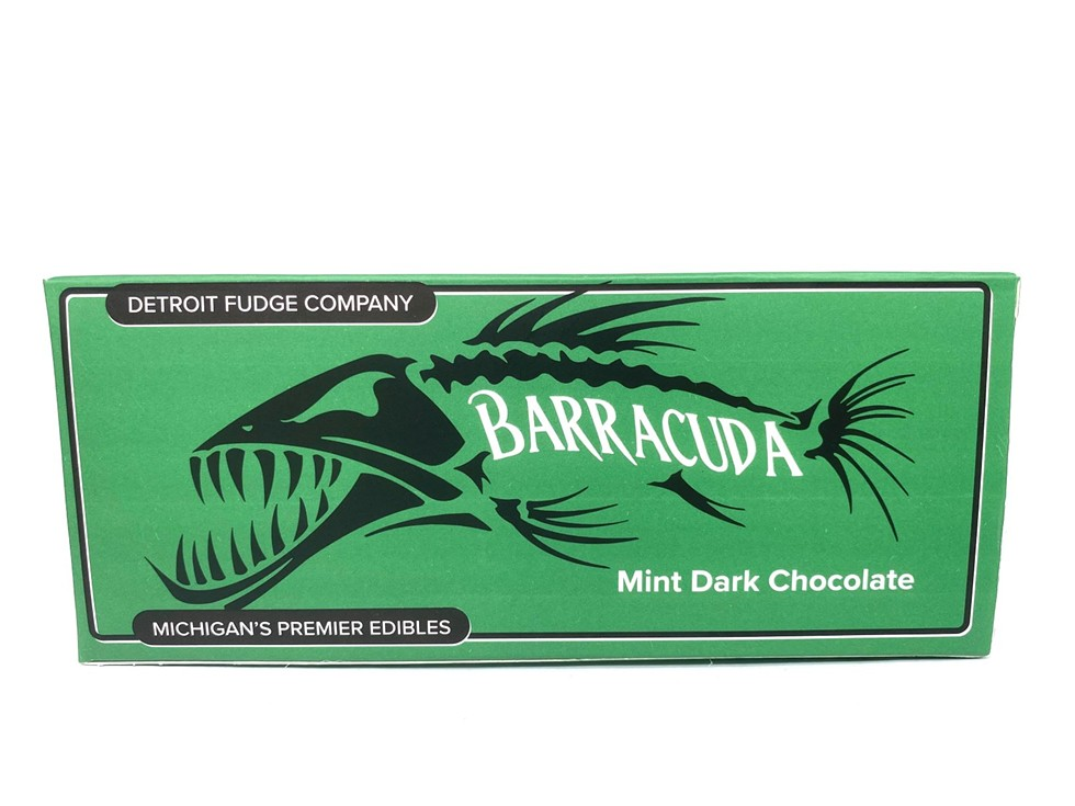 Mint Dark Chocolate Barracuda Bar, $25-$30. We'd be hard-pressed to find a more iconic duo than cannabis and fudge. Though cannabis and peanut butter are a close second, Detroit Fudge Company has all the cannalicious holiday treats for edible lovers who want nothing more than to watch Die Hard and forget that 2020 ever happened. In addition to their cannabis-infused brownie bites, honey, and peanut butter spreads, Ann Arbor-based Detroit Fudge Company has what is sure to be a new seasonal favorite: mint chocolate bars that pack a punch. The 1:1 bars are equipped with a whopping 100mg of CBD and 100mg of THC and come in milk and dark chocolate varieties, too. Detroit Fudge Company products can be found at licensed recreational and medical marijuana dispensaries in metro Detroit. (Pro-tip: Search Detroit Fudge Company on WeedMaps.com to locate buzzy, fudgy goodness near you.) - COURTESY OF DETROIT FUDGE COMPANY
