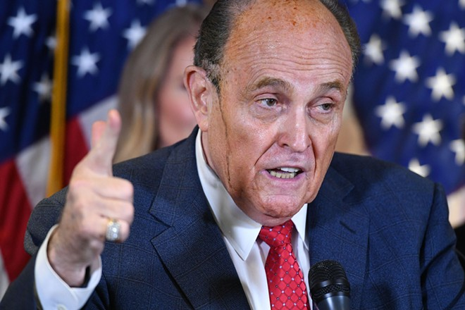 President Donald Trump's personal lawyer Rudy Giuliani. - SHUTTERSTOCK.COM