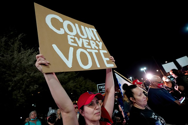 Supporters of President Donald Trump gathered in Detroit to protest the election. - DEVI BONES / SHUTTERSTOCK.COM