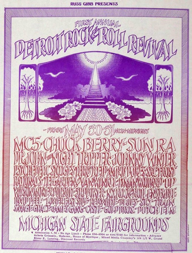 Flyer for the first Annual Detroit Rock & Roll Revival. - GARY GRIMSHAW