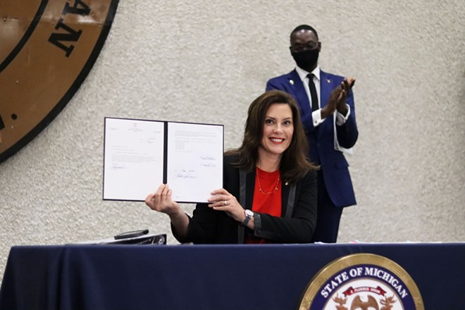 "Gov. Gretchen Whitmer signed ""Clean Slate"" bills into law in October, erasing the cannabis-related criminal records of thousands of Michigan residents. - STATE OF MICHIGAN"