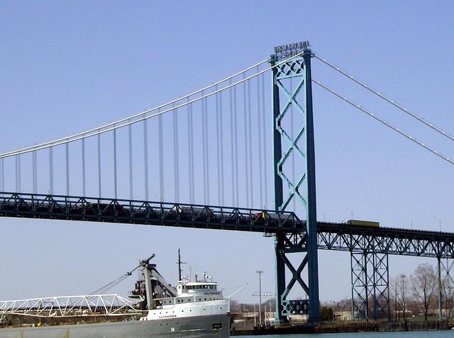 Ambassador Bridge in Detroit. - VIA WIKIMEDIA COMMONS