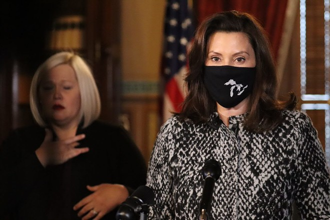 Gov. Gretchen Whitmer during a recent COVID-19 news conference. - GOV. WHITMER'S OFFICE