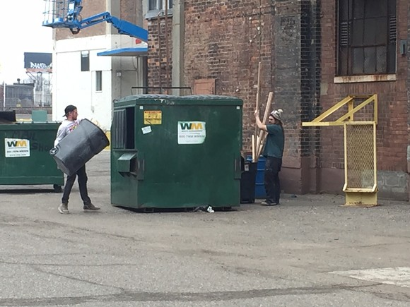 Tenants at the Russel Industrial Center clear out after receiving eviction notices. - VIOLET IKONOMOVA