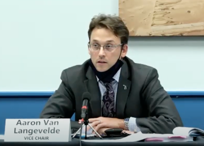 Michigan Board of State Canvassers member Aaron Van Langevelde. - SCREENGRAB/ZOOM