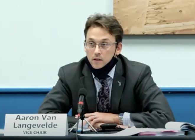 Michigan Board of State Canvassers member Aaron Van Langevelde. - SCREENGRAB/ZOOM
